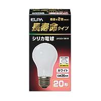 ELPA シリカ電球 20W形 LW100V19W-W 【25個セット】