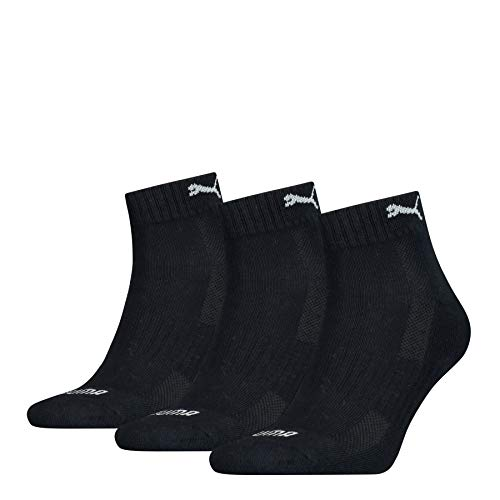 PUMA Cushioned Quarter Socks (3 Pack) Calcetines, Navy, 39/42 Unisex Adulto