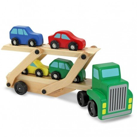 Melissa and doug - Camion en bois de transport de voitures Jouet en bois Enfants 3 ans + rampe amovible