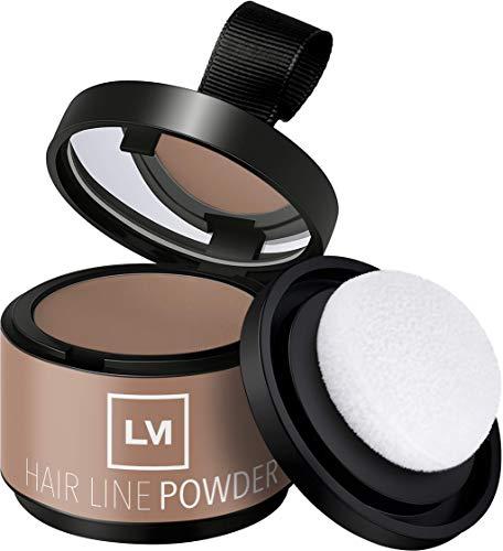 LEON MIGUEL Hair Line Powder - Ansatzpuder/Concealer | Haarverdichtung und Make-up zum Ansatz kaschieren | Wasserfest (Mittelblond)