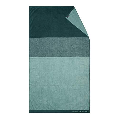 Marc O'Polo Strandlaken Horizon Strandtuch Badetuch Streifen Gestreift 100 cm x 180 cm, Farbe:Grün