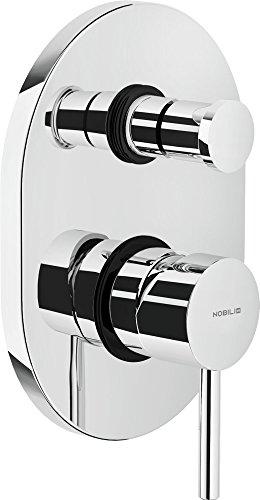 Nobili rubinetterie AQ93100CR Acquerelli Miscelatore ad Incasso per Doccia con Deviatore, Cromo