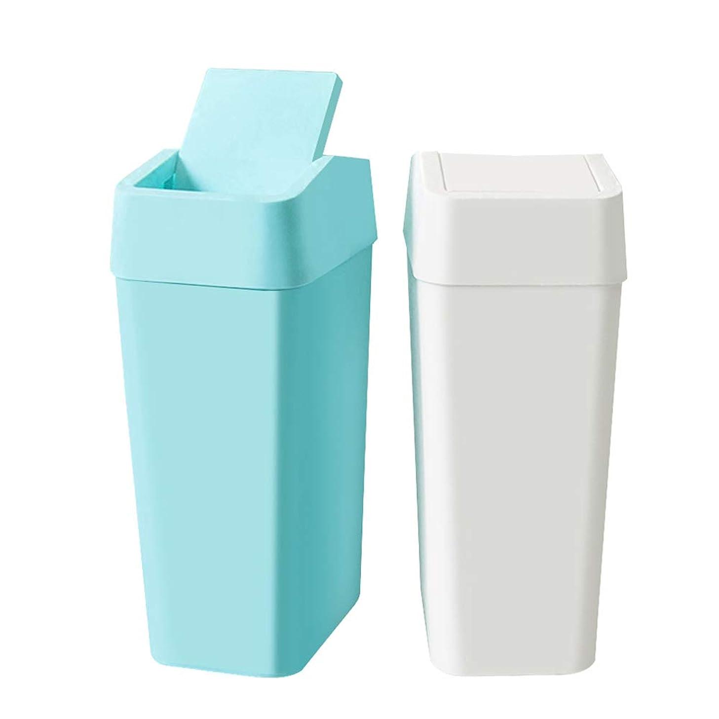 合理化談話本能GAOJIE 非常に狭くて簡単な浴室用ゴミ箱 (色 : White blue)