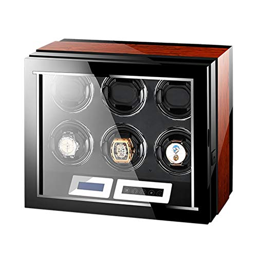 Cajón para Guardar Relojes y Joyas Reloj automático Butder Box Control Remoto LCD Pantalla táctil Luz Motor silencioso para Hombres Mujeres Regalo Gran Capacidad Estuche de Almacenamiento de Lujo