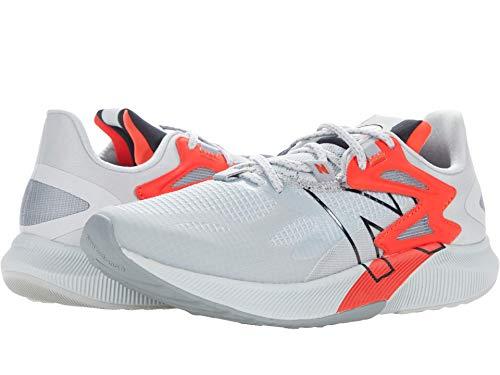 New Balance Men's FuelCell Propel RMX V1 Speed Running Shoe, Light Aluminum/Black/Neo Flame, 10.5