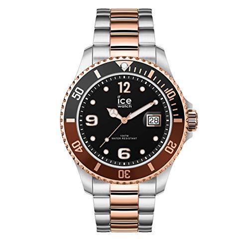 Ice-Watch - ICE steel Chic silver rose-gold - Silbergraue Herrenuhr mit Metallarmband - 016548 (Large)