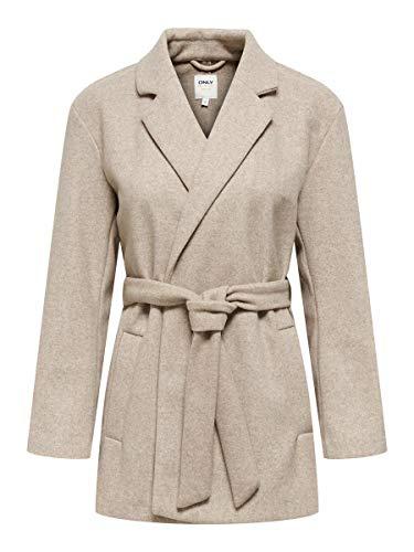 Only ONLTRILLION Belt Coatigan PNT Jacke, Humus/Detail:W. Melange, XL para Mujer
