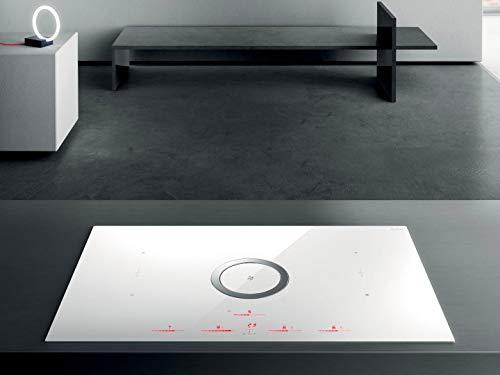 Elica NIKOLATESLA SWITCH WH A 83 - Piano cottura induzione + Cappa Integrata, colore Bianco