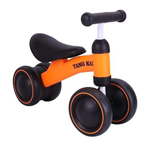 Mysida Kids' Bikes Balance vélo pour bébé Apprendre à Marcher Obtenir équilibre Sens Pas pédale Jouets d'équitation pour Enfants bébé Bambin 1-3 Ans (Couleur : Orange)