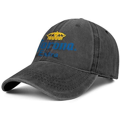 GGdjst Herren Frau Corona Bier Logos Denim Hut Netter Baseball Hut Verstellbare Trucker Cap