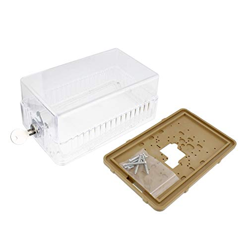 BISupply AC Thermostat Cover with Lock, AC Thermostat Lock Box Cover Thermostat Guard with Lock, 7.7 x 3.3 x 4.75 Inch