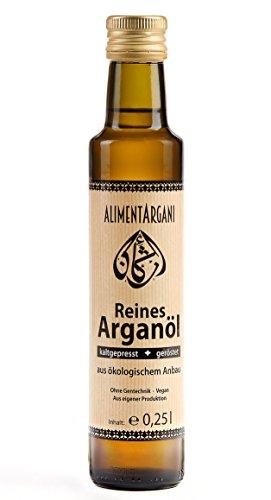Alimentargani Bio Arganöl 250ml geröstet, kaltgepresst & vegan, Speiseöl aus eigener Produktion