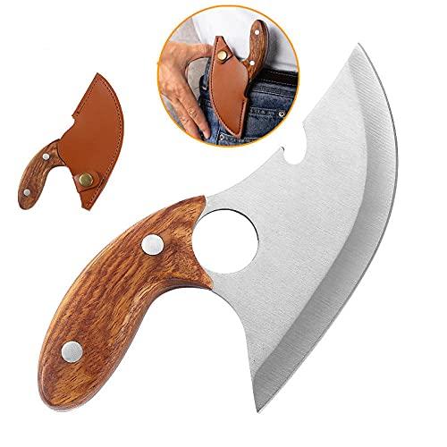 Chefs Messer Professionelle Messer im Freien - Handgeschmiedet Tortloin, Knochenmesser mit Lederabdeckung, Outdoor Messer für Küchengrillausflug