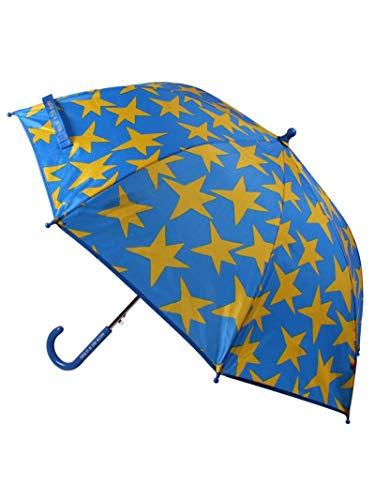 Paraguas infantil resistente al viento sistema de apertura automática grande color azul con estrellas amarillas Agatha Ruiz de la Prada