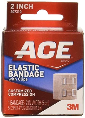 ACE Elastic Bandage With Clips Customized Compression 2 Inches 1 Each
