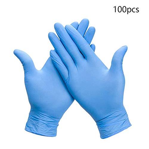 100 Stück, tragen Resistance Nitrile Einweghandschuhe, Lebensmittel Haushaltsreinigung Waschhandschuhe, antistatische Handschuhe, Handschuhe in Lebensmittelqualität, industrielle Einweghandschuhe, xxl