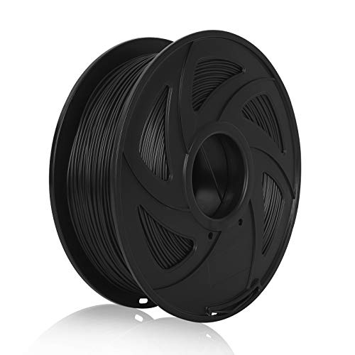 PETG 3D Printer Filament PETG Filament 1.75mm 1kg 2.2lb Spool, Dimensional Accuracy +/- 0.02 mm, Fit Most FDM Printers Pack of 1 (Black)