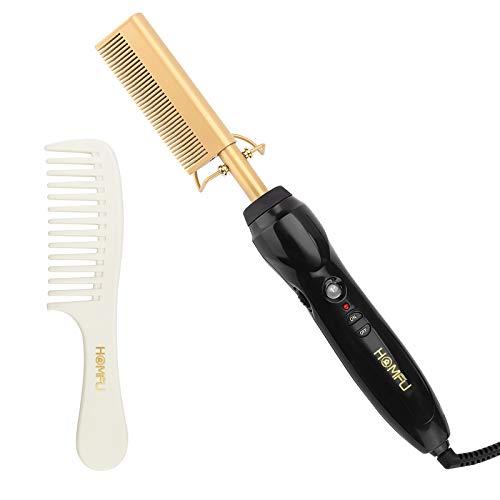 Calentador eléctrico peine plancha de pelo de cobre, cerámica plancha de pelo...
