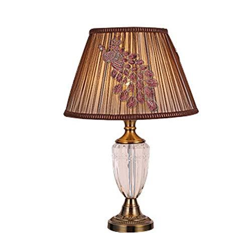 XFSE Lámpara de mesa moderna minimalista decoración de hotel, lámpara de mesa clásica de personalidad, sala de estar, dormitorio, cristal, lámpara de mesa 45 x 73 cm