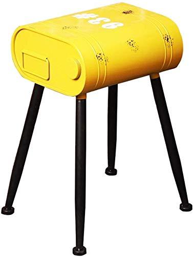 QTQZDD retro barkruk metaal ijzer geschikt voor keukenbar eetkamerstoel ontbijtshocker retro hoge kruk als barkruk tafels en stoelen vrijetijdsstoelen lounge stoelen shabu industrieel design, metaal 1 1