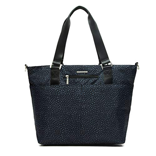 Lily & Drew Nylon Crossbody Bag for Women with Shoulder Strap, Luggage Strap, Laptop Sleeve (Pebbled Blue)