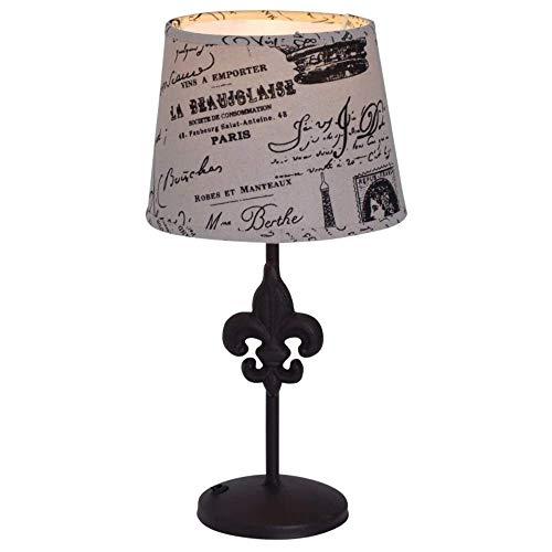 Näve Print 3154827 - Lámpara de mesa (tela, E27), color marrón