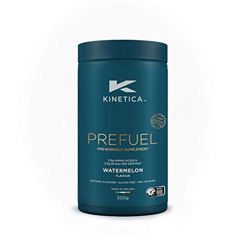 Kinetica PreFuel, Pre Workout Supplement, Watermelon, 300g, 30 Servings - 5.9g Amino Acids & 2.3g BCAA's per Serving