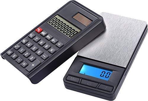 G&G 200g/0,01g PC fijnweegschaal zakweegschaal & rekenmachine (2 in 1) digitale weegschaal muntenweegschaal