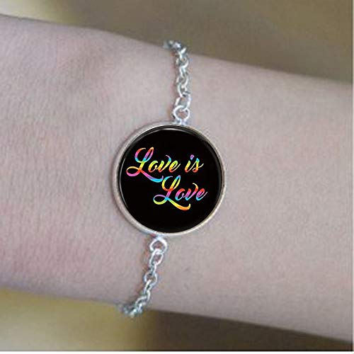 bab Joyas Love is Love, LGBT Pride, collar LGBT, pulseras Rainbo – Joyería con mensaje positivo