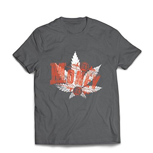 lepni.me Camisetas Hombre Sin Dinero Sin diversión - Hoja de Cannabis -