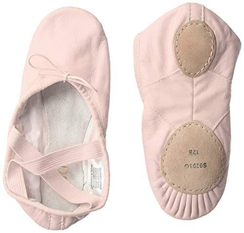 Bloch Girl's Dance Dansoft II Leather Split Sole Ballet Shoe/Slipper, Theatrical Pink, Medium
