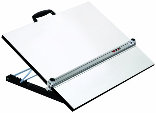 Martin Universal Design Adjustable Angle Parallel Drawing Board, Medium, Silver