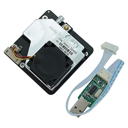 DEVMO PM Sensor SDS011 High Precision PM2.5 Air Quality Detection Sensor Module Super Dust Sensors Digital Output Compatible with Ar-duino