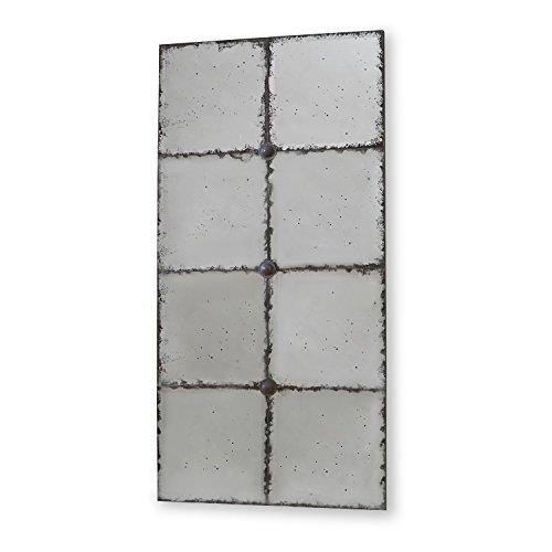 Loberon Spiegel Louvenne, Kiefernholz/Spiegelglas, H/B/T ca. 80/40 / 3 cm, antiksilber