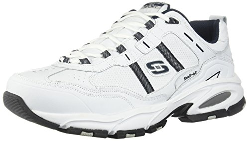 Skechers Sport Men's Vigor 2.0 Serpentine Oxford,White/Navy,9.5 2E US