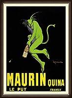 ポスター レオネット カピエッロ Maurin Quina le Puy 額装品 ウッドハイグレードフレーム(オーク)