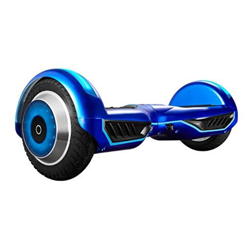 DIMPLEYA Balance Board, Zwei-Rad-Hoverboard Motor 700W Bluetooth Lautsprecher LED-Leuchten Für Kinder Und Erwachsene,Blau