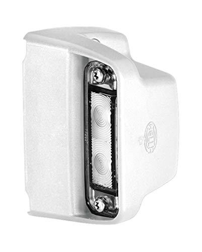 HELLA 2KA 012 271-231 Kennzeichenleuchte - LED - 12V/24V - Anbau - Kabel: 2000mm - Stecker: Flachsteckhülse - Einbauort: seitlicher Anbau