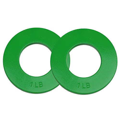 Logest Fractional Olympic Plates Set of 2 Plates - 1 LB 1.25 LB 1.5 LB (Choose Set) Fractional Weight Plates Designed for Olympic Barbells for Strength Training and Micro Plates Weight Plates (1)