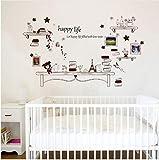 Star source Happy Life Quote Estudio Extraíble Salón Dormitorio Decoración de Oficina Muebles Murales Respetuoso del medio ambiente Pegatinas...
