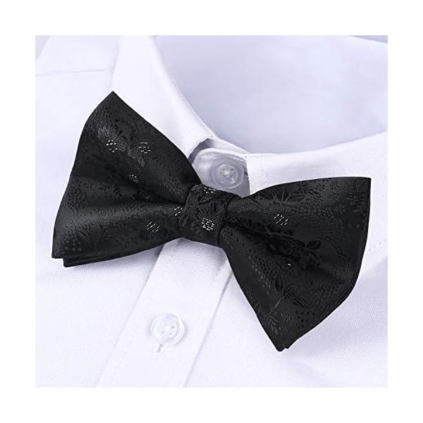 Enlision Floral Pre-Tied Mens Bow Tie Adjustable Elegant Formal Bowties for Boys & Adult Tuxedo Wedding