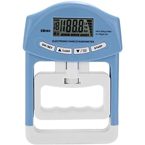 Cestbon Forza LCD Digitale elettronico Dinamometro a Mano Meter 90 kg / 200 lbs Potenza Strumento di misurazione Bodybuilding Palestra Esercizi muscolari Gripper Forza Meter,Blu