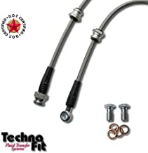 Techna-Fit Brake Line Kit for 9//1981-1983 NISSAN DATSUN 280ZX Black NIS-720BK