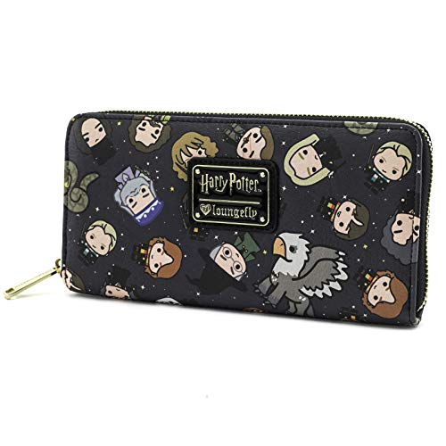 Loungefly Harry Potter Chibi Character Print Wallet , Black , One Size