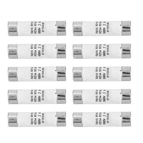 Hancend 10-teilige Zylindersicherung mit hoher Schaltkapazität und Anzeigevorrichtung 10x38 380-500VAC 2A