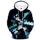 349 Blue Exorcist Okumura Rin Hoodie 3D Printed Sweatshirt Coat Cosplay Sweater Small