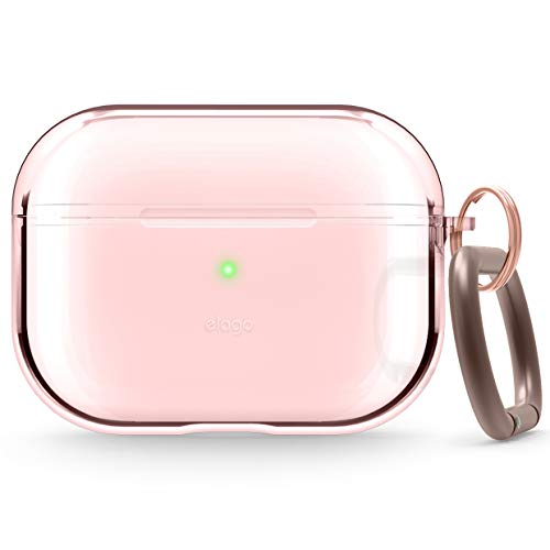elago Protective Clear Case Designed for Apple AirPods Pro Case [Lovely Pink]