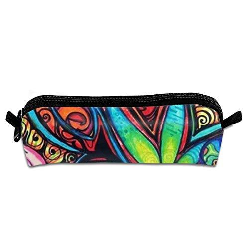 Trippy Hippie - Estuche para lápices con cremallera, pequeño neceser de maquillaje, monedero para niños, adolescentes y otros suministros escolares