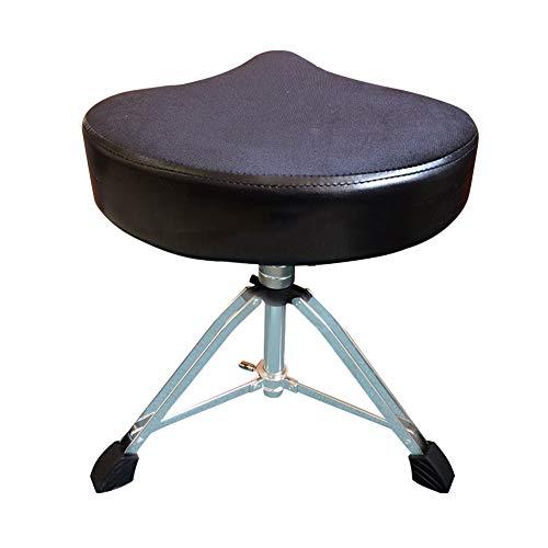 catch-L Multiuso Drum Drum Chair Saddle Type Sgabello Elettronico per Batteria (Color : Black, Size : 45-60cm)