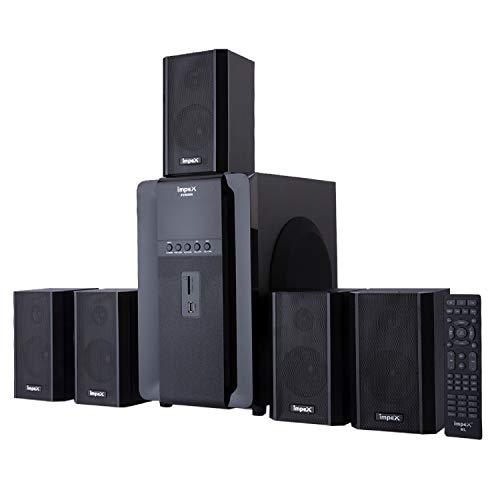 Impex 5.1 FUSION 140 W Multimedia Bluetooth Speaker System (Black)